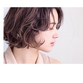 パーマ ボブ ニュアンス カール ヘアスタイルや髪型の写真・画像 ヘアスタイルや髪型の写真・画像