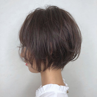 ハンサムショート ショートボブ ナチュラル デート ヘアスタイルや髪型の写真・画像