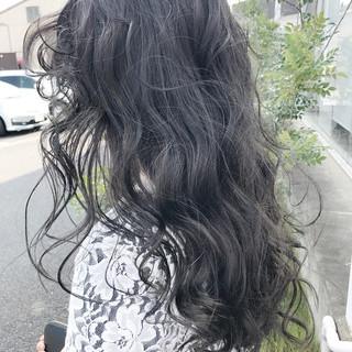 グレージュ ハイライト ロング 外国人風カラー ヘアスタイルや髪型の写真・画像