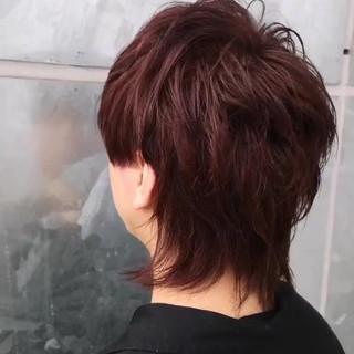 メンズ ラベンダーピンク ウルフカット ストリート ヘアスタイルや髪型の写真・画像