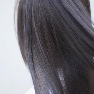 ハイライト グラデーションカラー インナーグレー インナーカラー ヘアスタイルや髪型の写真・画像
