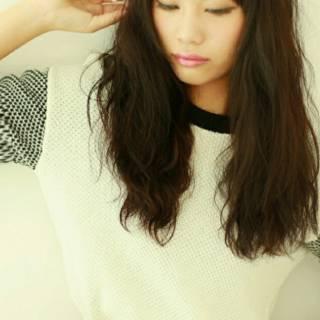 モテ髪 セミロング コンサバ 黒髪 ヘアスタイルや髪型の写真・画像