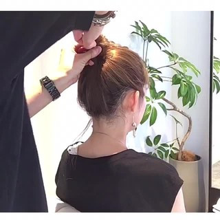 ヘアアレンジ 簡単ヘアアレンジ デート ナチュラル ヘアスタイルや髪型の写真・画像