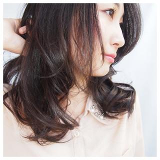 ストリート ミディアム 簡単 黒髪 ヘアスタイルや髪型の写真・画像