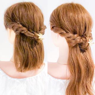 上品 エレガント デート 簡単ヘアアレンジ ヘアスタイルや髪型の写真・画像