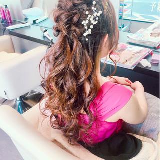 大人かわいい 色気 編み込み ヘアアレンジ ヘアスタイルや髪型の写真・画像