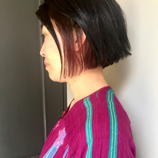 モード 大人女子 ピンク ハイライト ヘアスタイルや髪型の写真・画像