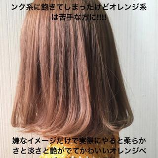 ミディアム デート 透明感 ナチュラル ヘアスタイルや髪型の写真・画像