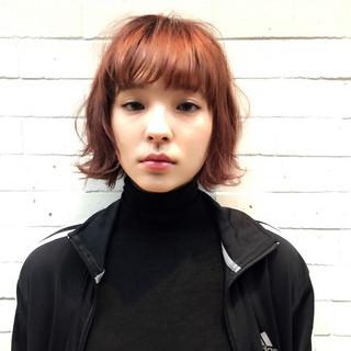 色気 ボブ 前髪あり 外国人風 ヘアスタイルや髪型の写真・画像