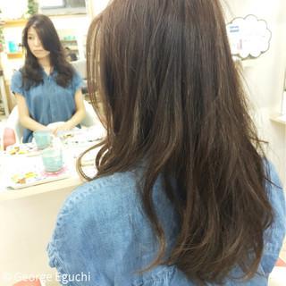 グラデーションカラー 外国人風 暗髪 ロング ヘアスタイルや髪型の写真・画像