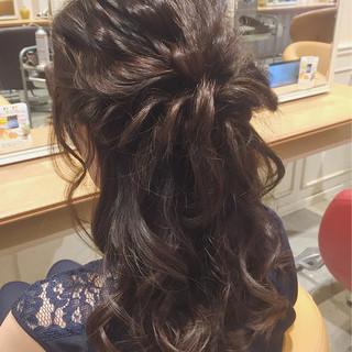 上品 セミロング 波ウェーブ エレガント ヘアスタイルや髪型の写真・画像