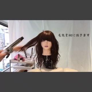 ウェーブ ストリート 波ウェーブ セミロング ヘアスタイルや髪型の写真・画像