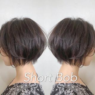 ハンサムショート ショートボブ 小顔ショート ショート ヘアスタイルや髪型の写真・画像