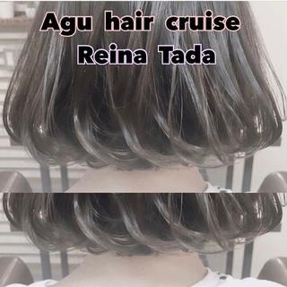 ボブ フェミニン かわいい モテ髪 ヘアスタイルや髪型の写真・画像