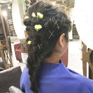 ロング ナチュラル ヘアアレンジ 大人女子 ヘアスタイルや髪型の写真・画像