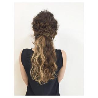 ヘアアレンジ 編み込み 大人かわいい ロング ヘアスタイルや髪型の写真・画像