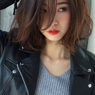 色気 こなれ感 フリンジバング 小顔 ヘアスタイルや髪型の写真・画像