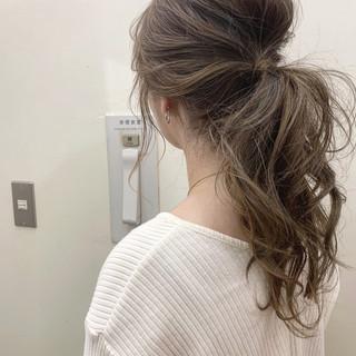 ナチュラル ゆるふわ デート ロング ヘアスタイルや髪型の写真・画像