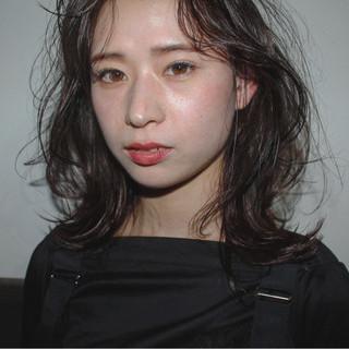 ゆるふわ ミディアム 女子力 ウェーブ ヘアスタイルや髪型の写真・画像