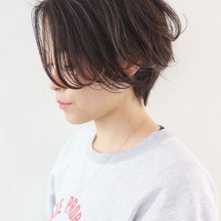 パーマ ハンサム ハイライト ハンサムショート ヘアスタイルや髪型の写真・画像 ヘアスタイルや髪型の写真・画像