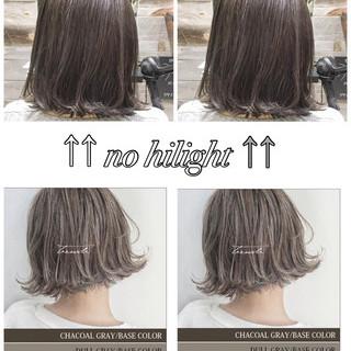 グレージュ ボブ 外国人風 タンバルモリ ヘアスタイルや髪型の写真・画像