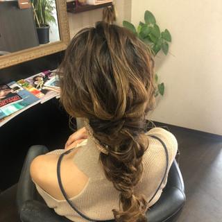 結婚式 ロング 結婚式ヘアアレンジ ナチュラル ヘアスタイルや髪型の写真・画像