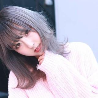 ブリーチ イルミナカラー TOKIOトリートメント ロング ヘアスタイルや髪型の写真・画像
