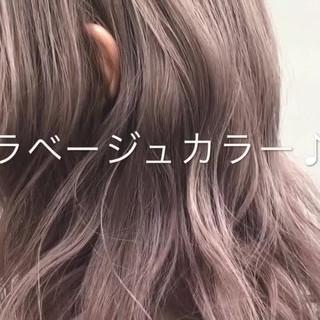 透明感 ナチュラル グレージュ ミディアム ヘアスタイルや髪型の写真・画像