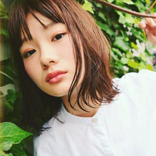 ミディアム 女子会 ナチュラル デート ヘアスタイルや髪型の写真・画像