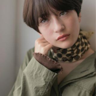 ウルフカット モード 色気 ボーイッシュ ヘアスタイルや髪型の写真・画像