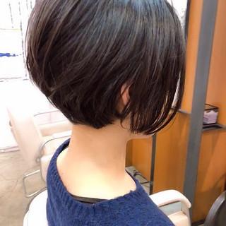 ストレート ハンサムショート ショートボブ ショート ヘアスタイルや髪型の写真・画像 ヘアスタイルや髪型の写真・画像