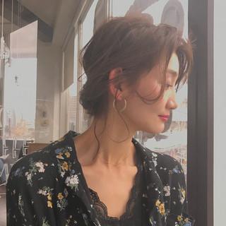 デート フェミニン こなれ感 二次会 ヘアスタイルや髪型の写真・画像