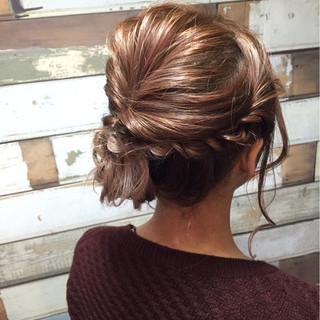 ルーズ 大人女子 パーティ ミディアム ヘアスタイルや髪型の写真・画像