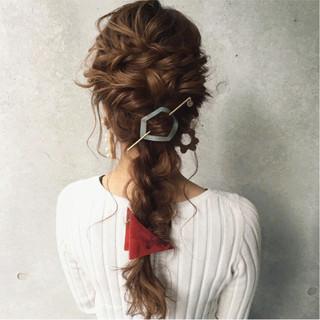 ヘアアレンジ パーティ ガーリー 大人かわいい ヘアスタイルや髪型の写真・画像