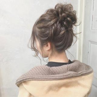 ヘアアレンジ デート セミロング 謝恩会 ヘアスタイルや髪型の写真・画像
