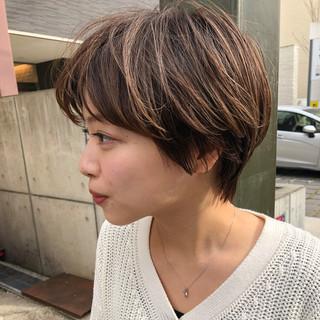 ベリーショート ナチュラル マッシュショート ハンサムショート ヘアスタイルや髪型の写真・画像