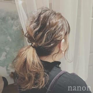 簡単ヘアアレンジ デート ロング 大人かわいい ヘアスタイルや髪型の写真・画像
