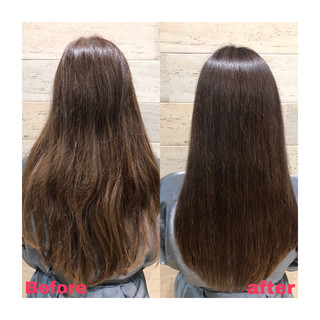 ダメージレス 最新トリートメント ナチュラル 縮毛矯正 ヘアスタイルや髪型の写真・画像