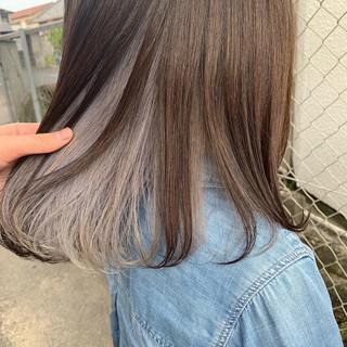 外国人風カラー ストリート アッシュ インナーカラー ヘアスタイルや髪型の写真・画像