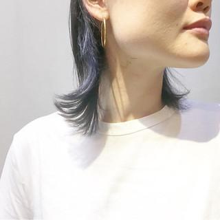 ストリート ネイビーブルー ネイビージュ ネイビーアッシュ ヘアスタイルや髪型の写真・画像 ヘアスタイルや髪型の写真・画像