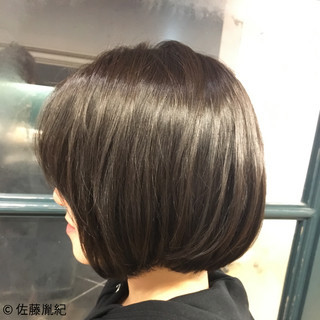 透明感 ボブ 外国人風カラー 艶髪 ヘアスタイルや髪型の写真・画像 ヘアスタイルや髪型の写真・画像