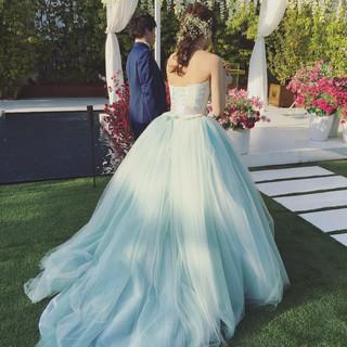 編み込み ヘアアレンジ ナチュラル 花嫁 ヘアスタイルや髪型の写真・画像