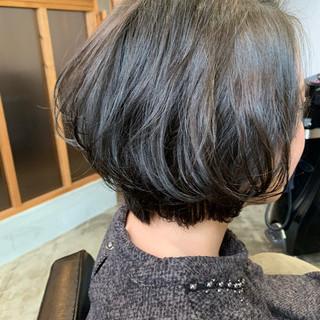 毛先パーマ ゆるふわパーマ パーマ ボブ ヘアスタイルや髪型の写真・画像