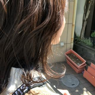 ヘアカラー ナチュラル グレージュ ブラウンベージュ ヘアスタイルや髪型の写真・画像