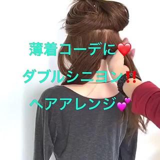 アウトドア ロング フェミニン ねじり ヘアスタイルや髪型の写真・画像