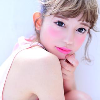簡単ヘアアレンジ 色気 ショート おフェロ ヘアスタイルや髪型の写真・画像