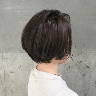 ショートボブ ナチュラル ショート 爽やか ヘアスタイルや髪型の写真・画像