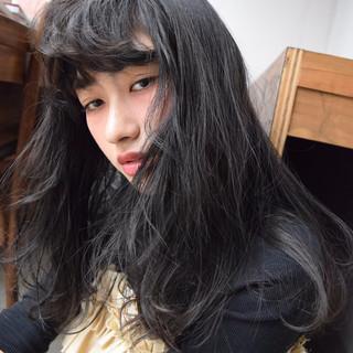 暗髪 ガーリー ゆるふわ 大人かわいい ヘアスタイルや髪型の写真・画像