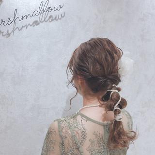 大人かわいい フェミニン セミロング 外国人風 ヘアスタイルや髪型の写真・画像