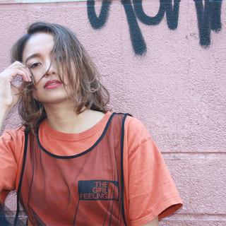 ボブ ストリート 大人女子 ニュアンス ヘアスタイルや髪型の写真・画像